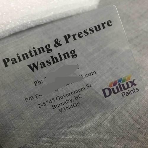 PVC透明卡片