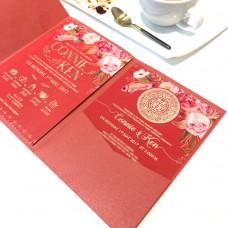 傳統大紅囍帖/請帖